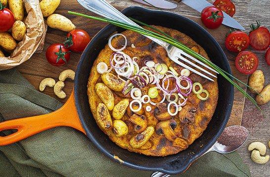 Omelette vegan façon tortilla espagnole